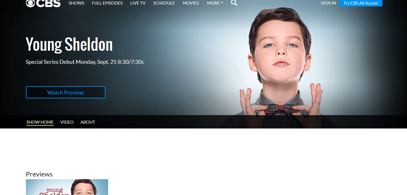 Young Sheldon Stream Online