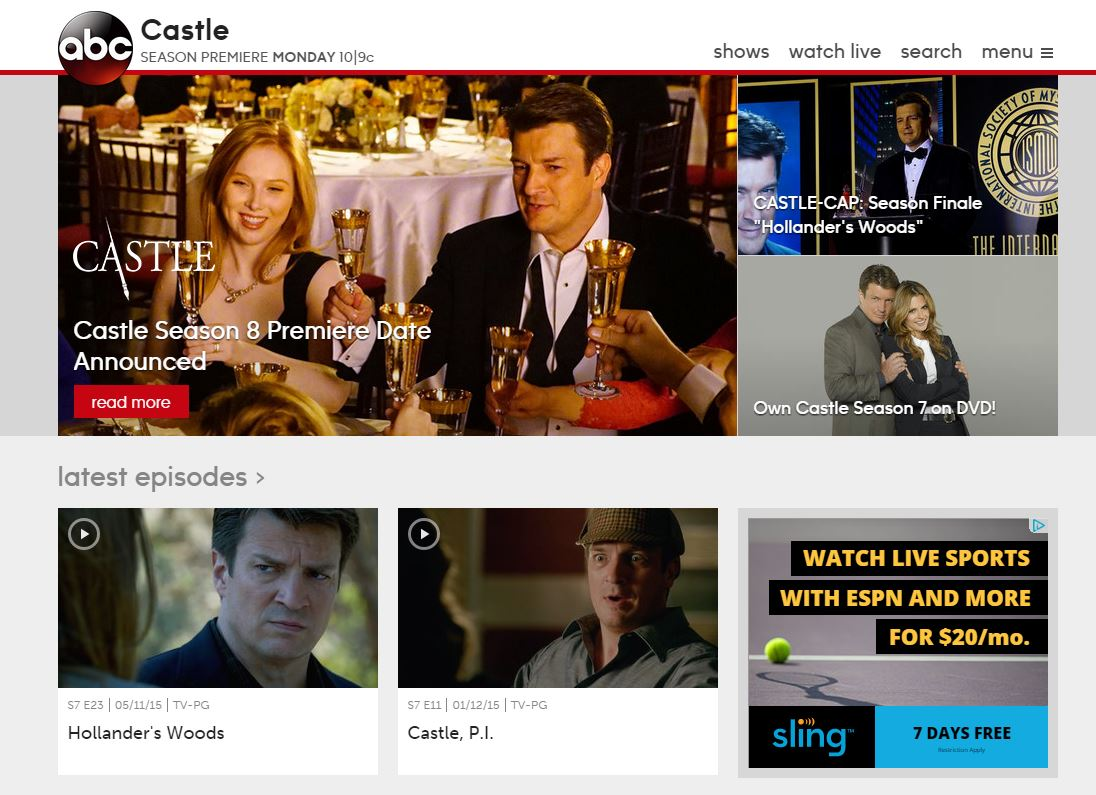 watch castle online abv