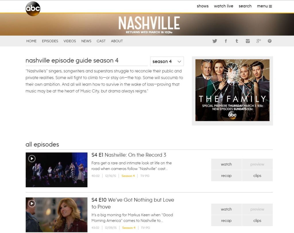 how to watch nashville online streaming and free
