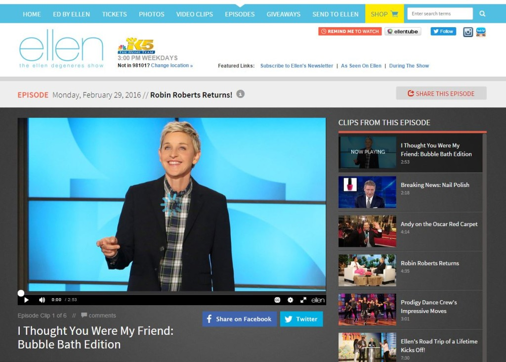 how to watch the ellen show live