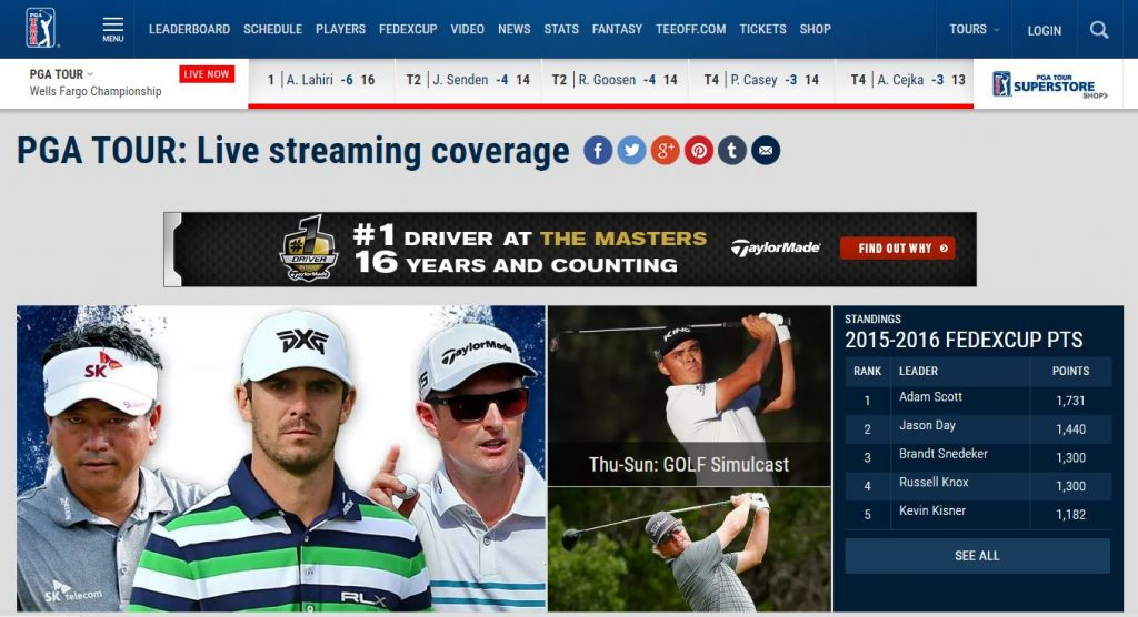 how to watch or stream golf online for free