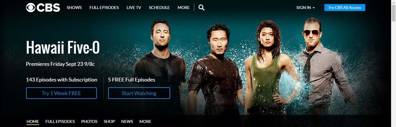 where can i watch hawaii five o for free
