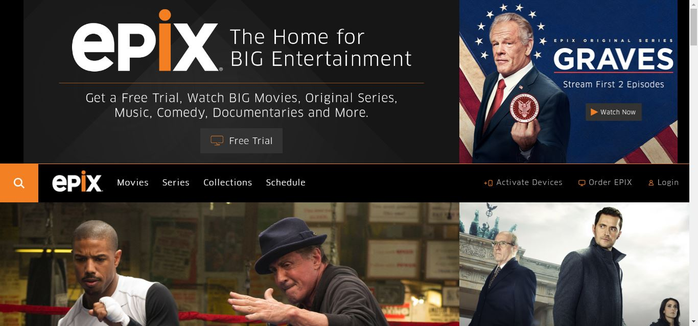 Watch Epix Online & Streaming for Free